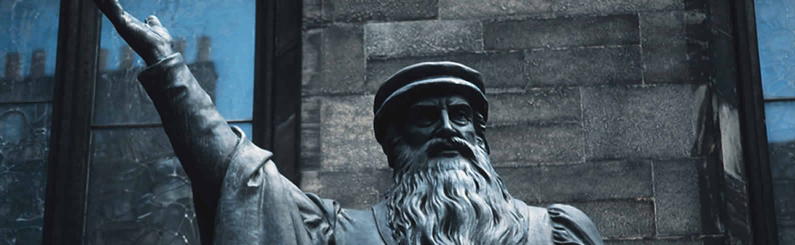 Top of the statue of John Knox from Edinburgh New College