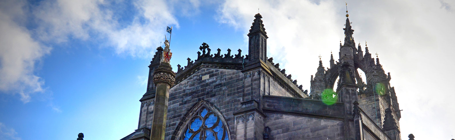 St Giles cathedral and the clouded sky above